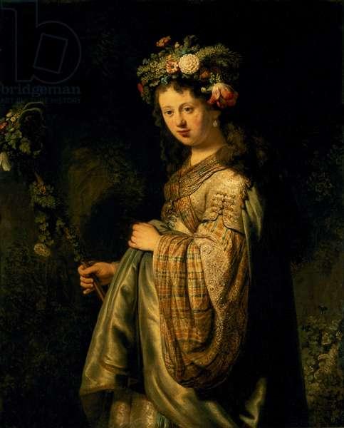 Saskia as Flora, 1634 (oil on canvas)