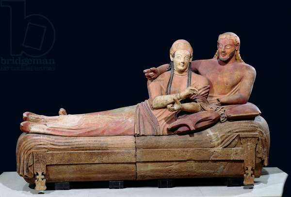 Sarcophagus of the Spouses, 525-500 BC (stone)