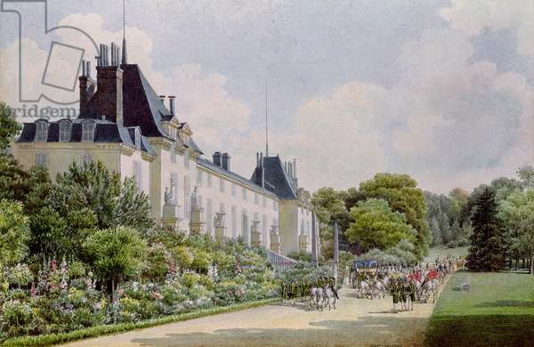 View of the Garden Facade of the Chateau, from a collection of twelve 'Views of the Malmaison' (w/c on paper)