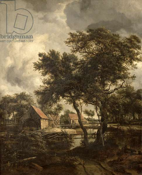 The Watermill, c.1660 (oil on canvas)