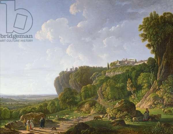 Tivoli and the Roman Campagna along the Appian Way (oil on canvas)