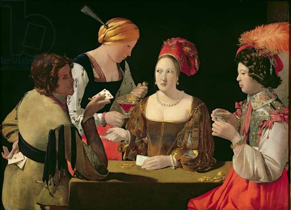 The Cheat with the Ace of Diamonds, c.1635-40 (oil on canvas) (for details see 90054-56)