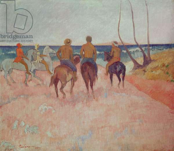 Horseman on the Beach (Hiva Hoa) 1902 (oil on canvas)