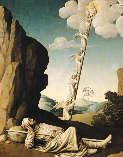Jacob's Ladder, c.1490 (oil on panel)