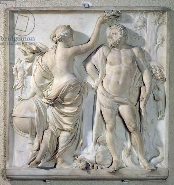 Hercules Crowned by Glory, 1671 (marble)