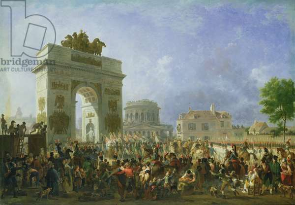 Entry of the Imperial Guard into Paris at the Barriere de Pantin, 25th November 1807, 1810 (oil on canvas)