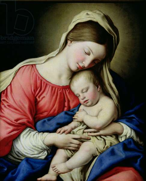 Virgin and Child (oil on canvas)