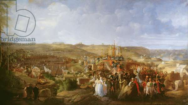 Napoleon at a camp in Boulogne distributing the Cross of the Legion of Honour, 16th August, 1804, 1806 (oil on canvas)