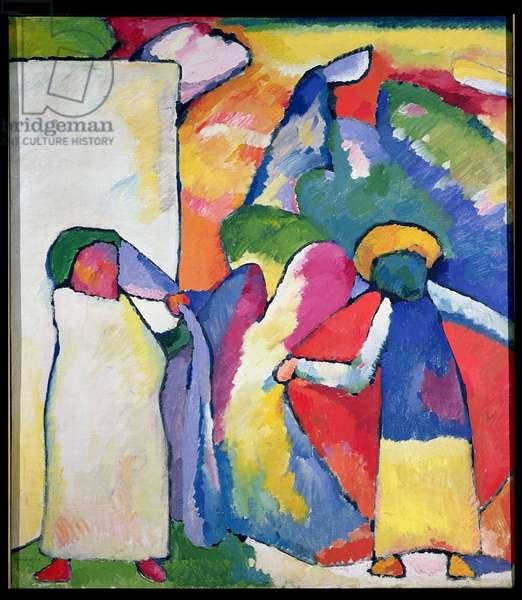 Improvisation No. 6 (Africans) 1909 (oil on canvas)