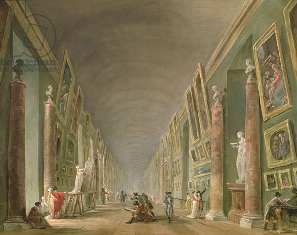 The Grand Gallery of the Louvre between 1801 and 1805 (oil on canvas)