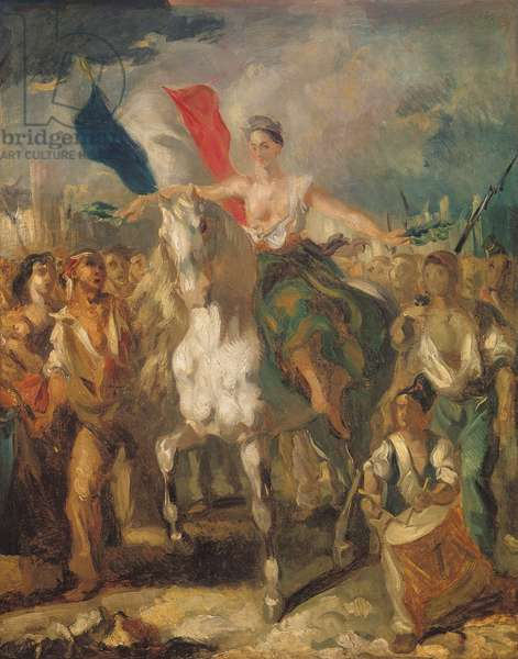 Study for 'Liberty', 1830 (oil on canvas)