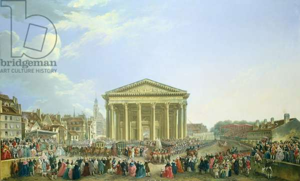 Ceremony of Laying the First Stone of the New Church of St. Genevieve in 1763, 1764 (oil on canvas)