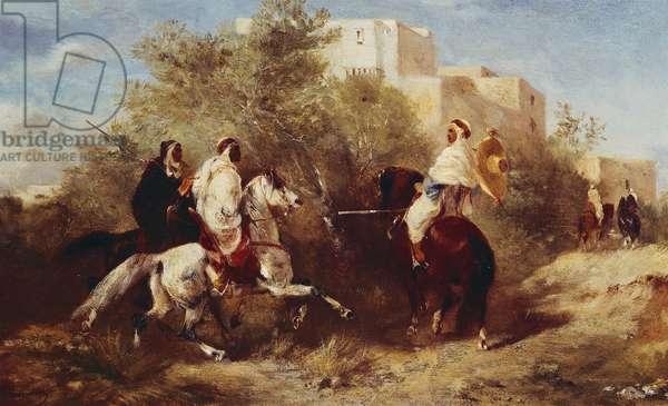 Arab Horsemen (oil on canvas)