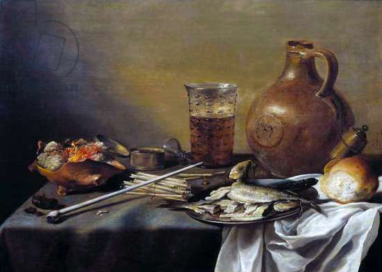Still Life with Glass of Beer, 1644 (oil on panel)