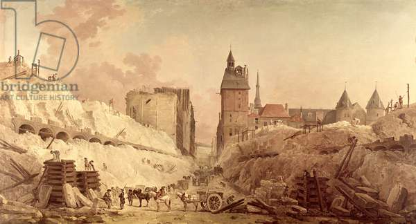 Demolition of the Houses on the Pont au Change in 1788 (oil on canvas)