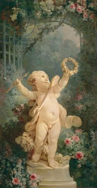 Love Triumphant (before restoration) (oil on canvas)