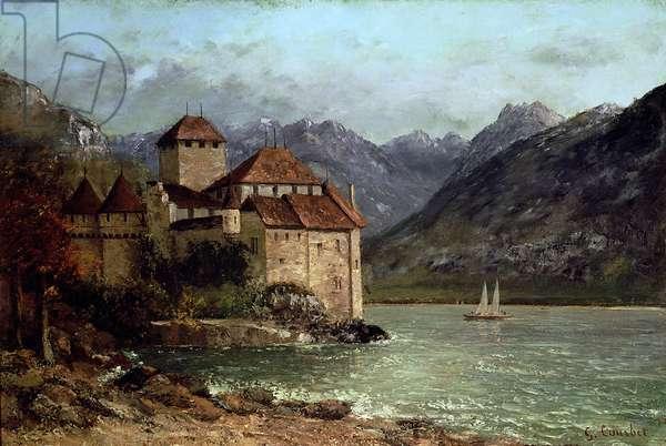 The Chateau de Chillon, 1875 (oil on canvas)