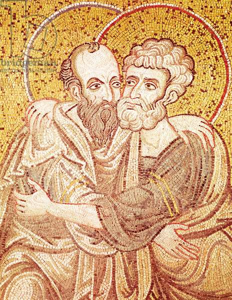SS. Peter and Paul Embracing (mosaic)