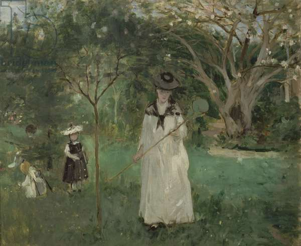 The Butterfly Hunt, 1874 (oil on canvas)