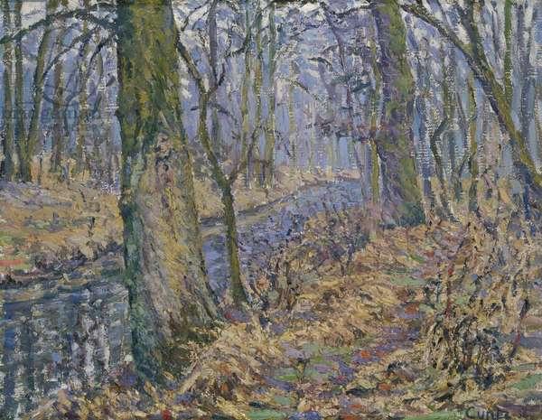 Undergrowth (oil on canvas)