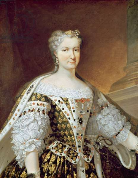 Portrait of Maria Leszczynska, Queen of France and Navarre (oil on canvas)