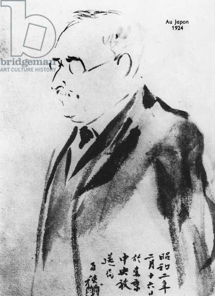 Paul Claudel in Japan, 1924 (litho)