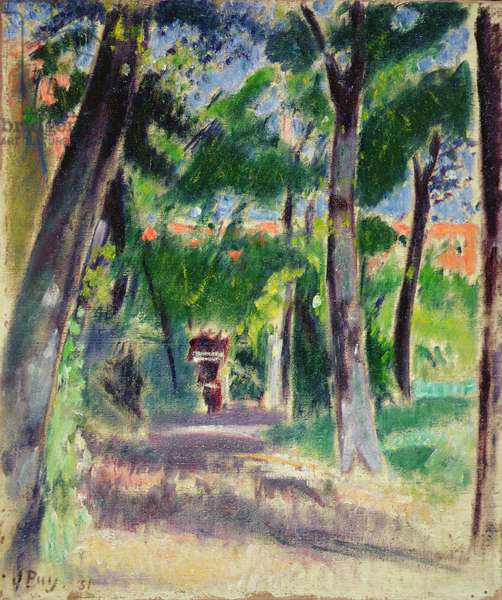 The Path (oil on canvas)