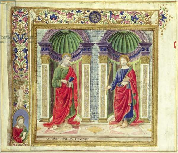 St. Andrew and St. James the Minor, 1502 (vellum)