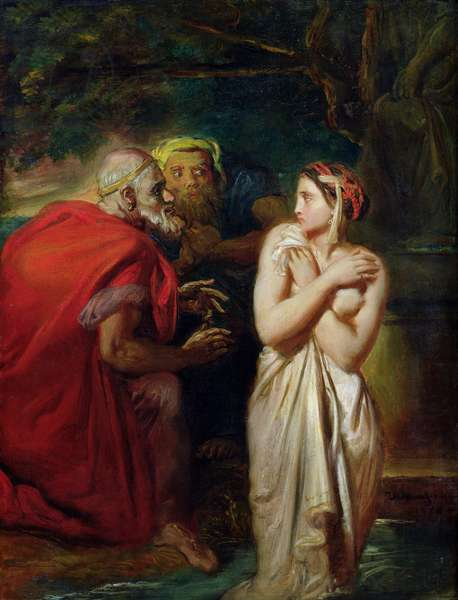 Susanna and the Elders, 1856 (oil on panel)