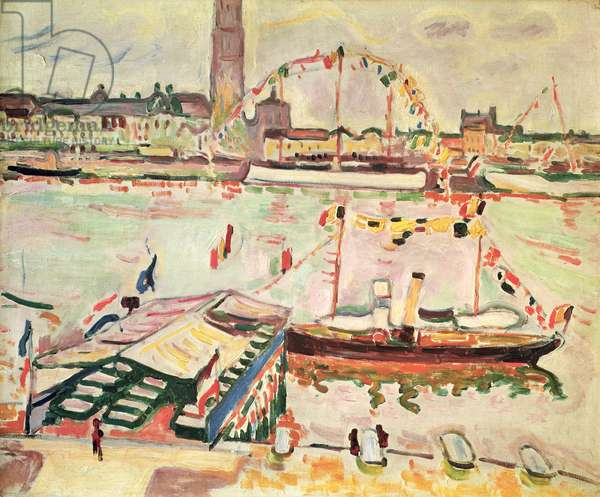 The Port of Antwerp, 1905 (oil on canvas)
