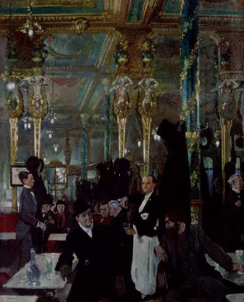 Cafe Royal, London, 1912 (oil on canvas)