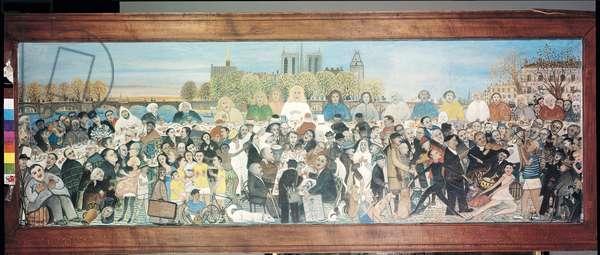 La Cene sur la Seine, 1954 (oil on canvas)