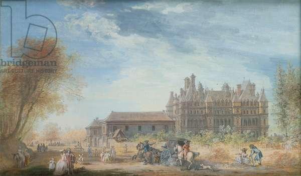 The Chateau de Madrid (gouache on paper)