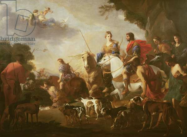 Dido and Aeneas Hunting (oil on canvas)