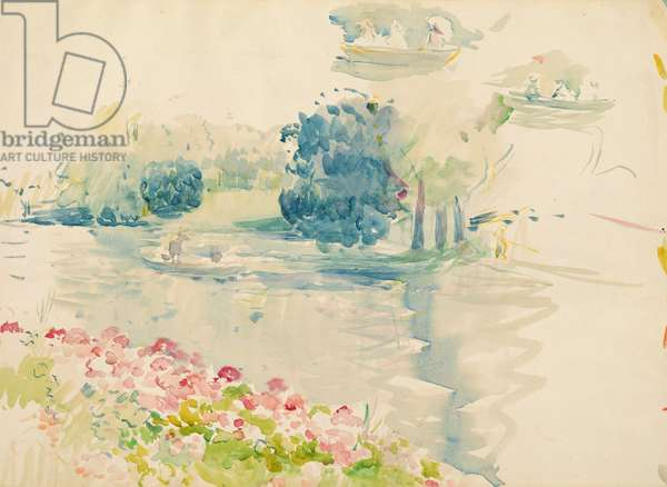 Geraniums by the lake, 1893 (w/c on paper)