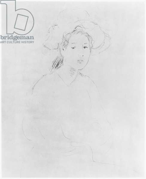 Head of a woman (Verso) (see 383972 Recto) 1893 ? (pencil on paper)
