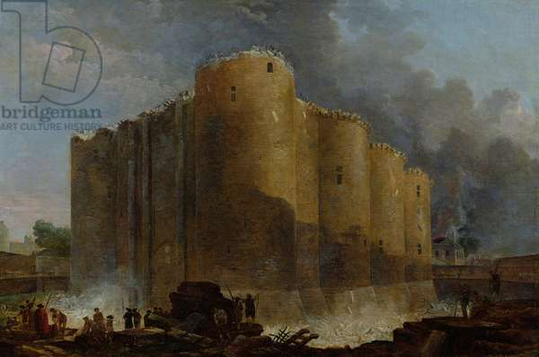 Demolition of the Bastille, 1789 (oil on canvas)