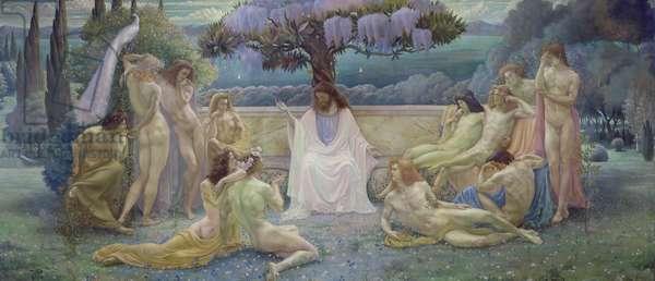 The School of Plato, 1898 (oil on canvas)