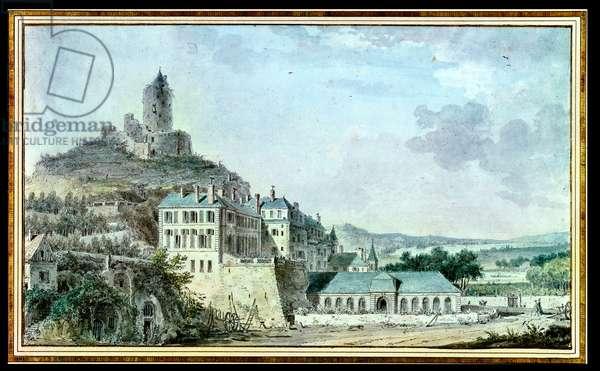 Chateau de La Roche-Guyon (w/c on paper)