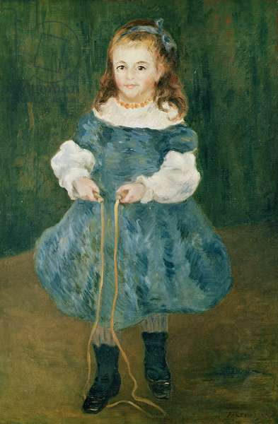 Girl with a skipping rope, 1876 (oil on canvas)