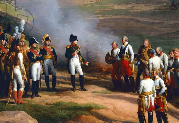 Detail from The Surrender of Ulm, 20th October, 1805 - Napoleon and the Austrian generals, 1815 (oil on canvas)