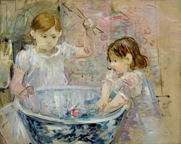Children at the Basin, 1886 (oil on canvas)