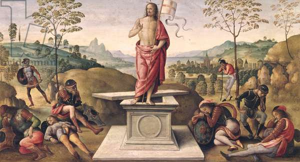 The Resurrection of Christ, from the Convent of San Pietro, Perugia, 1496-98 (oil on panel)