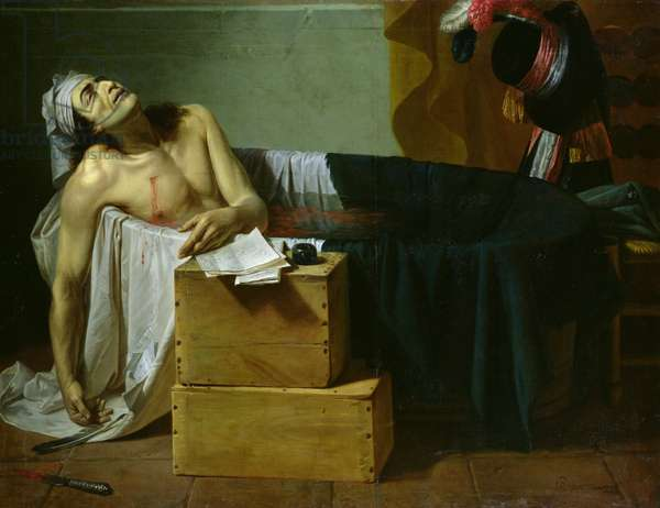 The Death of Marat, 1793 (oil on canvas)