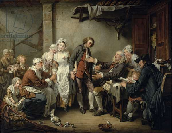The Village Agreement, 1761 (oil on canvas)