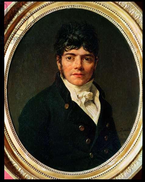 medallion Portrait of the Comte Esteve, 1804 (oil on canvas)