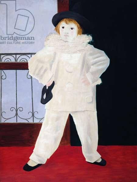 Paul as Pierrot, 1925 (oil on canvas)