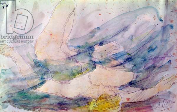 The Blonde Wave (watercolour on paper)