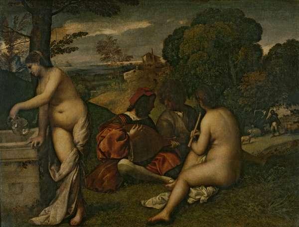 Le Concert Champetre (Open-Air Concert), c.1510 (oil on canvas)