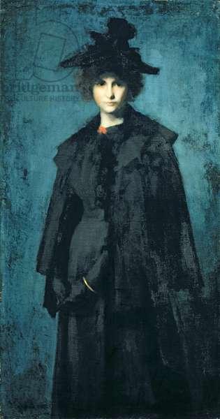 Portrait of Madame Laura Leroux (oil on canvas)